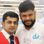 with sales man