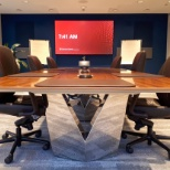 Executive Boardroom refresh with PTZ camera tracking technology.