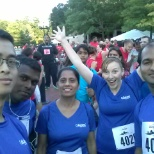 photo of Collabera, Collabera employees after the Verizon corporate 5k.