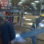 Welding with my partner .wal-mart super center