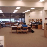 One of the many places students were offered computer access to library services.