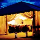 Classic Party Rentals photo: Installed tent, place chairs, carpet, lights , and decorations