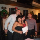 Our Christmas party here with my manager and two associates when I won my iPad