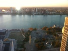 Overlooking the Detroit River into Canada