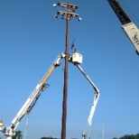 Pole and lighting replacement