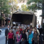 The Atlanta Office Thanksgiving Food Drive donations were picked up by the National Guard.
