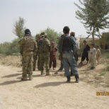 Meeting a village elder, joint patrol with AFG police.