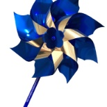 The blue pinwheel is the national symbol for child abuse prevention