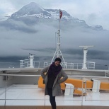 On the crew deck of the Disney Magic while sailing through the Norwegian fjords in 2016.