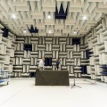 Anechoic chamber in the Auburn Hills headquarters