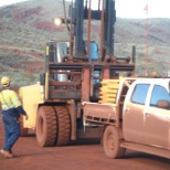 Thiess photo: our smallest forklift