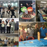 WEBCOM photo: Collage of photos from the 2016 Staff Appreciation party. Food, games and prizes were awarded!
