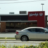 This is a photo of the Wendy's I worked at after their wonderful remodel