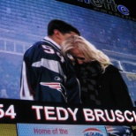 Gillette Stadium photo: Honoring Tedy Bruschi!