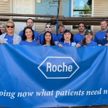 Roche Branchburg employees at a volunteer event