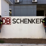 DB Schenker Logistics photo: First day we got our uniform that guy on my right is our forklift operator