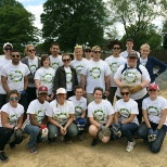 Our DC colleagues help build a home's foundation with Habitat for Humanity.