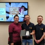 Winner of our Temp Worker of the Year 2018