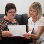 Home care assessor with client