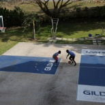 Basketball court in our Barbados office