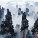 Zhangjiajie, or the Avatar Mountains, are a cluster of sandstone columns unlike any national park.
