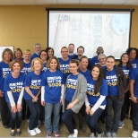 We're here to serve-customers, our community & each other. Today we're at Feed My Starving Children.