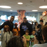 Ravens players visit the Children's Hospital in partnership with the Casey Cares Foundation.
