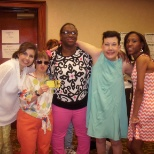 Me and a few colleagues/models at the Easter Seals Fashion Show 2013.
