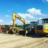 Equipment lineup on one of our jobsites.