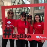 60 individuals participated in the 2019 Big Bike ride to help raise awareness Heart & Stroke!