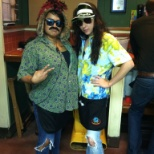 Halloween at Chilis. Raoul Duke and Dr. Gonzo from Fear and Loathing in Las Vegas
