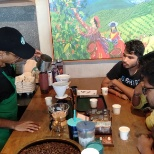 It's a short session that Tata Starbucks Conduct with the customers known as Coffee tasting.