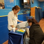 Helping doing screenings for associates
