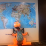 The Dragon with the International Map - Austin Office