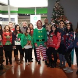 Our store team on Ellice Avenue dresses up for the holiday season. December, 2018.