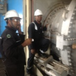 Nalco photo: Liner Transition Piece Inspection