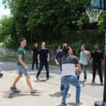 Basketball during our Victoria Day BBQ