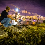 Photographing the Ohio River bridge