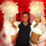 Angelo and his show girls I was hosting a Bacardi event
