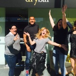Drybar photo: Alli joins our Brentwood team for their birthday celebration!