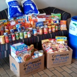 Florida Lift photo: We partnered with 5/3rd Bank and Feeding America for a food drive. We collected 200lbs of food.
