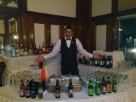 Bar-tending at a wedding at the Stanley Hotel