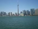 View of Toronto from the ferry going to Centre Island