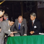 Duke Philip visiting LG Electronics Inc in 1999.