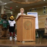 "University of Wisconsin photo: Speaking at the UW-Parkside/Gateway Technical College ""Forward Together"" signing event."