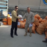 This photo was taken when I delivered a kind of supply items to US Army in Kabul at 2016.