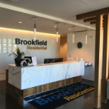 Greeting desk in Brookfield's Edmonton region