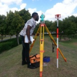 taking readings using a total station