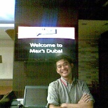 this was taken in max's rest.in dubai,karama.first max's branch in u.a.e.