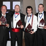 Signtronix.com photo: We like to celebrate victories... often!  We recognize our people with many different awards.